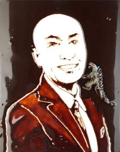 "Vik Muniz ""Portrait of Masashi Shiobara – Pictures of Chocolate"" 2012"